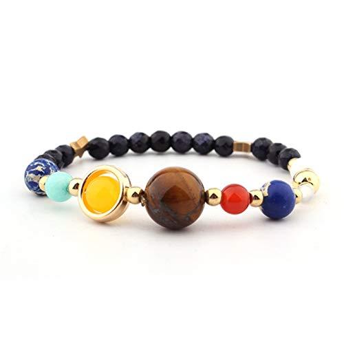 JKLJKL Bracelets Pulsera Ajustable Pulsera de Piedra Natural Regalo de Las Cuentas Pulsera (Metal Color : B6042)