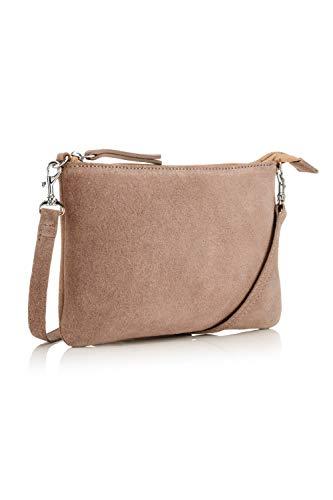 The Handbag Edit - Small Crossbody, Bolsos bandolera Mujer, Beige (Taupe), 1x23.5x15 cm (W x H L)