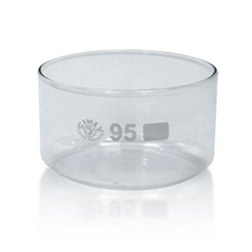 1 x Kristallisierschale 300 ml aus Borosilikatglas 3.3 ohne Ausguss DIN 12337 - Höhe 55 mm - Ø 95 mm - Abdampfschale