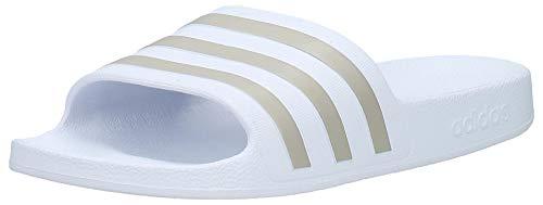 Adidas Adilette Aqua K, Ciabatte Unisex-Adulto, Bianco (Ftwr White Platin Metallic), 44.5 EU