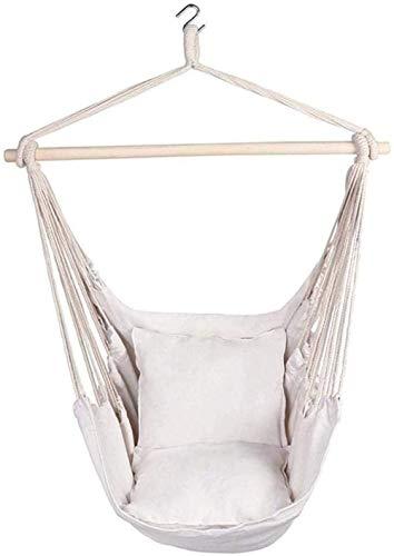 cheaakk Hängesessel Für,Seil Hängemattenstuhl für den Garten mit Schaukelstuhl Der Sitz hängt um 360 ° für den Garten im Freien
