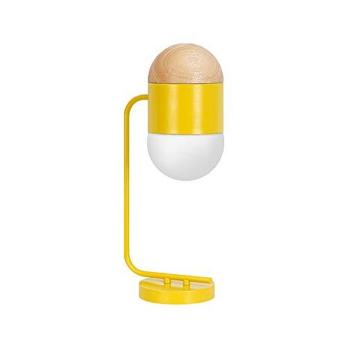 MGWA Macaron Creativa Metal Lámpara De Mesa/Dormitorio Personalidad De Noche Lámpara De Mesa Lámpara Decorada Habitación del Hotel Modelo Lámpara de Mesa