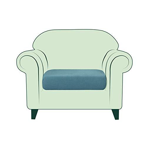 CHUN YI Fundas de cojín de sofá de 1 Pieza elástico Protector de cojín de Asiento Funda elástica para Cojines de Asiento de sofá protección de Muebles de Tela Antideslizante (1 Plaza, Azul)