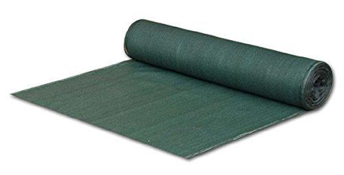 Bradas AS-CO13515025GR Sichtschutz - Zaunblende - Staubschutz - Schattiergewebe, 1,5 x 25 m, dunkelgrün