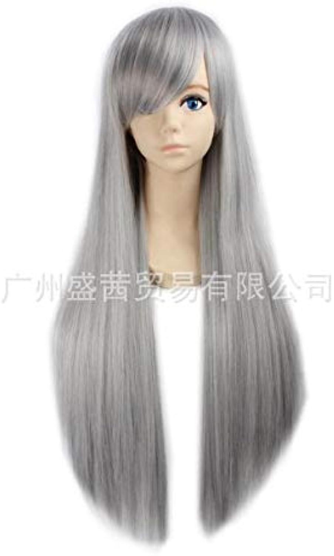 Cos Perücke Anime Cosplay langes glattes Haar Europa und die Vereinigten Staaten neue Oma grau silbergrau grau B07MK291VF Helle Farben    | Sehr gelobt und vom Publikum der Verbraucher geschätzt