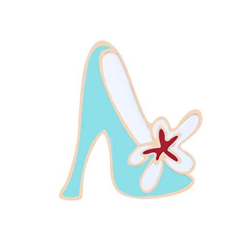 Broches de dibujos animados, patines de esmalte, bolsa de joyería, decoración, zapatos con ruedas de lona, botas, tacones altos, regalo de amante de la danza para niña estilo 7