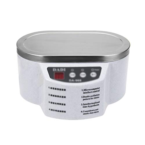 Zidao Ultraschall Schmuckreiniger Maschine, Professioneller Schmuckpolierer Ultraschall Brillenreiniger Edelstahlbehälter Einstellbarer Timer,Weiß