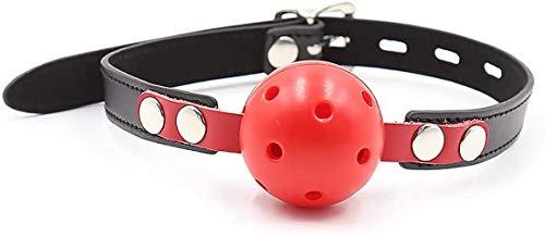 Tcouplesexy Yoga Maulkorb roter Hohlmaulkorb Ball schwarz rot Lock Mundstecker männlich/weiblich Universal Rollenzubehör