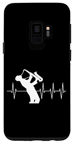 Galaxy S9 Saxophonist Gift Funny Heartbeat EKG Saxophone Case