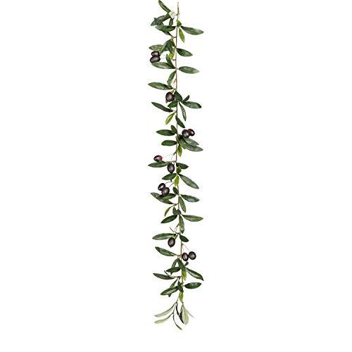 Olivengirlande, ca 80cm 88 Bl., 14 Früchte, Kunstpflanze (994929261736)