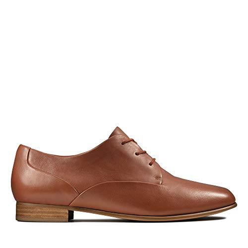 Clarks Damen Pure Mist Derbys, Braun (Tan Leather Tan Leather), 39 EU