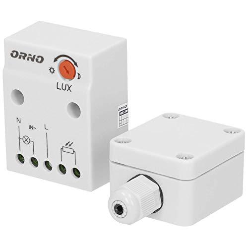 ORNO CR- 232 Dämmerungsschalter Aussen mit externer Sonde im Gehäuse, IP65, Lichtstärke LUX Anpassung