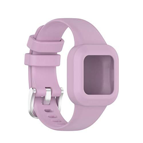fansheng Cinturino Compatibile per Cinturino di Ricambio in Silicone Morbido Garmin Fit JR3