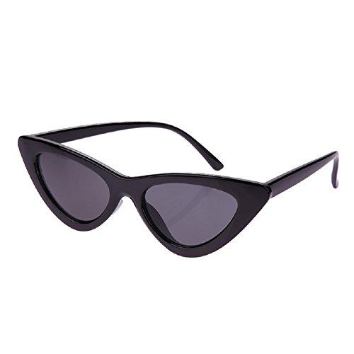 Demiawaking Occhiali da Sole Donna a Specchio Occhio di Gatto alla Moda Vintage Anti UV Occhiali da Esterno Occhiali da Sole a Triangolo