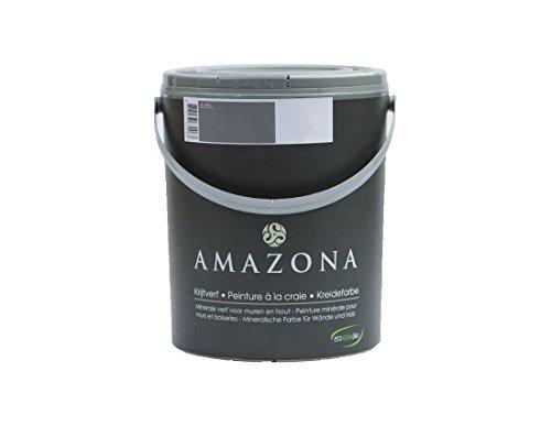 Amazona by Wohnliebhaber Kreidefarbe Taubengrau 4,0 ltr. Ökologisch Shabby Chic Vintage Landhausstil DIY Holz Metall Kunststoff Wand Stein für alle Untergründe Wandfarbe Farbe