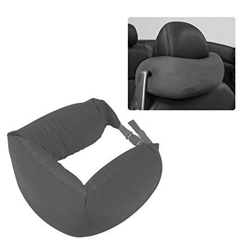 Fashion Car Interior Decoration Pillow Travel Headrest Car Office Chair Cushion Support Cushion Car Cushion (Color : Gray)