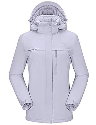 CAMEL CROWN Womens Ski Jacket Waterproof Snowboard Winter Snow Warm Ski Coat for Women New Gray XL from CAMEL CROWN