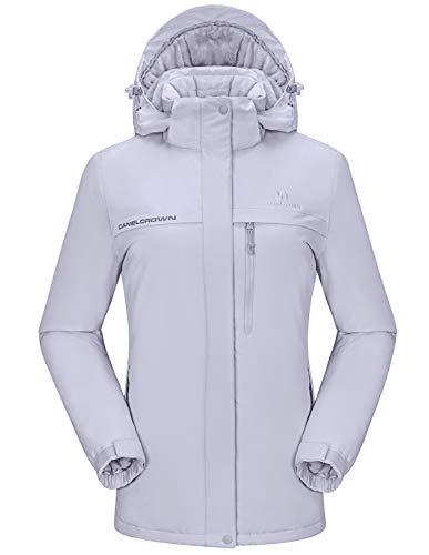 Wantdo Women's Mountain Skiing Jacket Winter Snow Coat Short Parka Anorak Casual Wear Wine Red L