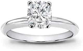 1 Carat GIA Certified Solitaire Platinum Cushion Cut Diamond Engagement Ring (I Color VVS1-VVS2 Clarity Center Stones Center Stones)