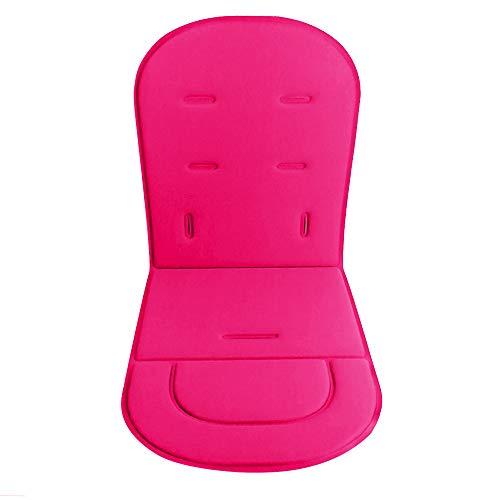 Cochecito de bebé Cojín Forro Alfombrilla Silla de paseo Alfombra de asiento de coche Protector de cubierta universal Transpirable Suave (Pink)