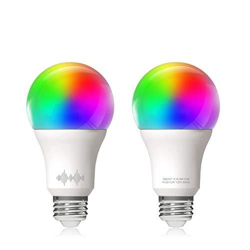 regulable LVYIMAO Bombilla inteligente E27 con WiFi multicolor 40 W equivalente a Alexa Google Home e IFTTT