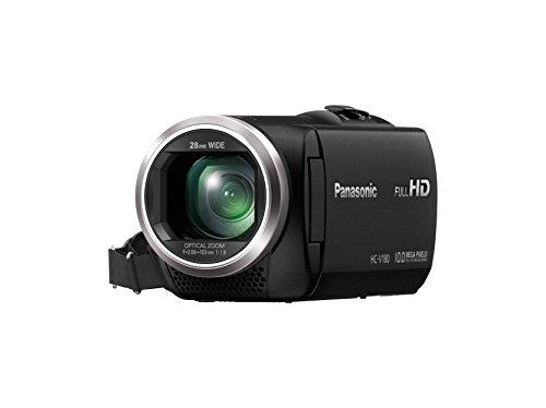 Panasonic HC-V180EG-K Full HD Camcorder,schwarz & Amazon Basics Leichtes Stativ, bis 1,52 m, inkl. Tasche, mit 3-Wege-Schwenkkopf und Wasserwaage