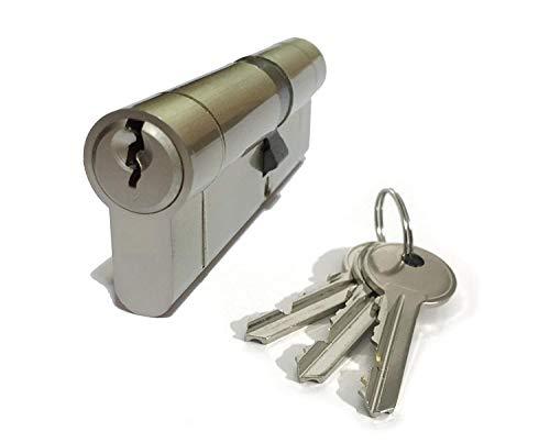 Hohe Sicherheit Euro Türschloss Zylinder - Größe: 35/55 - Nickel Abschluss - 3 X Schlüssel - Anti Wähle , Anti Bohrer,Anti Anti- Schlag, Anti Schnapp - für PVC / Upvc Türen, Terrasse Türen Usw