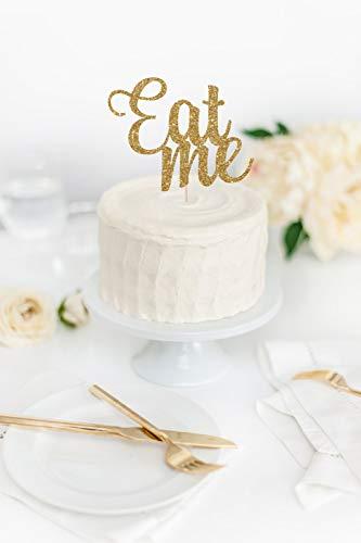 Cake Topper Eat Me Glitter Funny Birthday Glitter Party Props Alice In Wonderland Theme Cardstock Glitter Paper