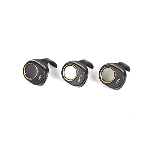 LoveOlvido 3-delige CUV/CPL / ND8 camerafilter circulaire polarisatorlens met neutrale dichtheid voor de DJI Spark Drone Cam