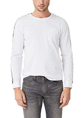 s.Oliver Herren 13.909.31.6661 Langarmshirt, Weiß (White 0100), XXX-Large (Herstellergröße: 3XL)