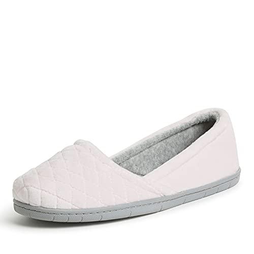 Dearfoams Women's Katie Microfiber Velour Espadrille Slipper, Fresh Pink, X-Large