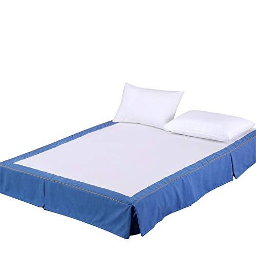 Eenvoudige Effen kleur Valance Hoeslaken Plissé Wrap Rond Stijl Bed Rok Met Split Hoeken Enkele Dubbele Valances Voor Bedden Slaapkamer Hotel Bed Base Rok