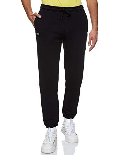 Lacoste Regular Sweat Pants - Pantalon De Sport - Relaxed - Homme - Noir (Noir 31) - Medium (Taille fabricant :4)