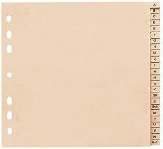 con cavalierino termosaldato Divisore per schedario marrone f.to A4 DURABLE 314111 con etichette bianche e prestampate confezione da 25 pezzi