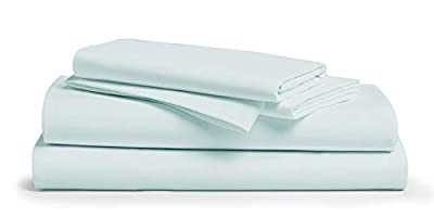 Comfy Sheets 100% Egyptian Cotton Sheets- 1000 Thread Count 4 Pc Queen Sheets Cotton Sea Foam Bed Sheet with Pillowcases, Hotel Quality Fits Mattress Up to 18'' Deep Pocket.