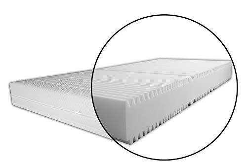 Matratze Höhe 20 7 ZONEN MATRATZE mit Bezug Easy Vital versteppt RG30 Größe 140 x 200 cm