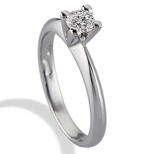 Anello Solitario Gemoro in oro bianco e diamante SS405BIA08 misura 21