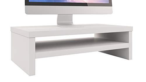 Epi-Tech Premium Monitorständer Bildschirmständer Laptopständer Monitorerhöhung Schreibtischaufsatz, 42 x 23 x 13 cm - Weiß
