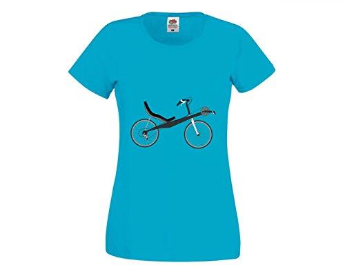 T-Shirt Fahrrad- LIEGERAD- Chaise Lounge- Transport- Fahrzeug- Radfahren in Blau für Herren- Damen- Kinder- 104-5XL