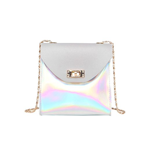 TUDUZ Citytasche Mode Frauen Umhängetasche Messenger Bag Handytasche Münztüte (Grau)