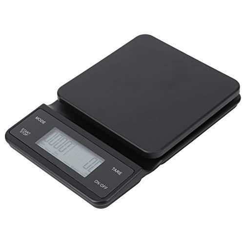 LCD Digital Eletrônico com Temporizador USB Carregamento Gotejamento de Café Pesando 3kg / 0.1g Balança de Café, Balança de Cozinha multifuncional, para Cozinha