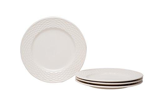Red Vanilla FC900-402 Salad Plates (Set of 4), 8.5', Nantucket White