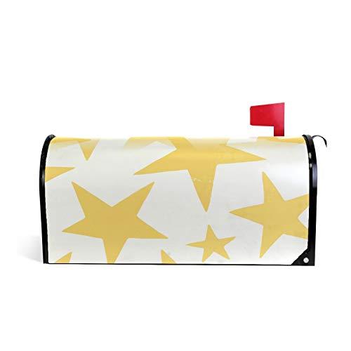 Magnetische Briefkastenabdeckung mit gelbem Sternen-Muster, Standard-Größe 51 x 45,7 cm
