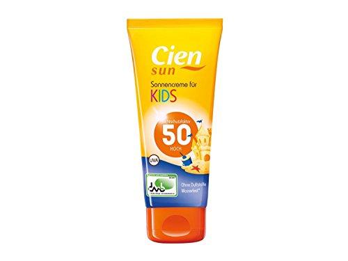 CIEN Sun Sonnencreme für Kids LSF 50 UVA - Ohne Duft- und Farbstoffe, wasserfest - 100 ml