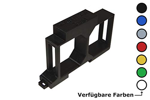 Shelly 2.5 / EM Hutschienenhalter/Adapter Dual DIN Rail bracket (35mm) (Weiß)