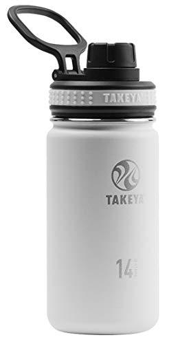 TAKEYA(タケヤ) タケヤフラスク オリジナルライン T7 水筒 ステンレス ボトル 直飲み 保冷 (ホワイト, 400ml)
