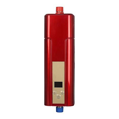 5500 Watt Elektrische Durchlauferhitzer Mini Instant Warmwasserbereiter Konstante Temperatur Tragbare Dusche Wasser Boiler Ndurchlauferhitzer Für Badezimmer Küche(Rot)