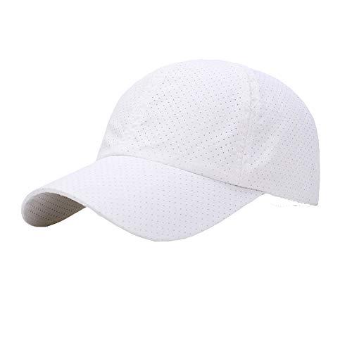 [FUPUONE] 帽子 ジョギング用キャップ メッシュ 吸湿速乾 ランニングキャップ 6カラー (ホワイト)