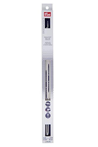 Prym Ergonomics 14-Inch Single-Point Knitting Needle, Size 6 (2-Pack)