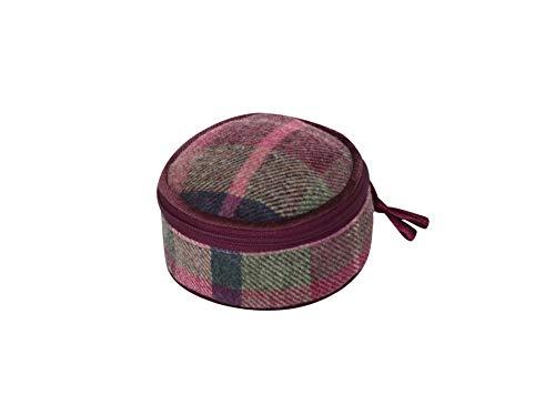 bacche di biancospino Earth Squared – Portagioie rotondo – lana tweed – bacca di biancospino – 10 x 10 x 5 cm